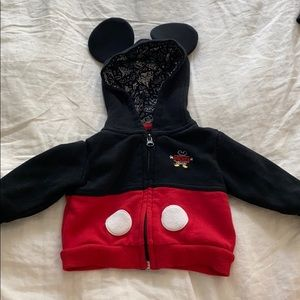 Disney Baby Mickey Mouse Zip Up with Ears